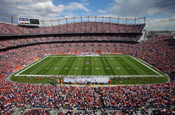 DENVER - SEPTEMBER 20: A general view of the stadium as the Cleveland Browns make the opening kick off to the Denver Broncos during NFL action at Invesco Field at Mile High on September 20, 2009 in Denver, Colorado. The Broncos defeated the Browns 27-6. (Photo by Doug Pensinger/Getty Images)