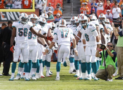 File photo of Miami Dolphins' QB, Ryan Tannehill. (Photo by Joel Auerbach/Getty Images)