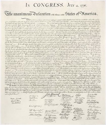 The Declaration Of Independence (courtesy of the National Archives/Library of Congress)