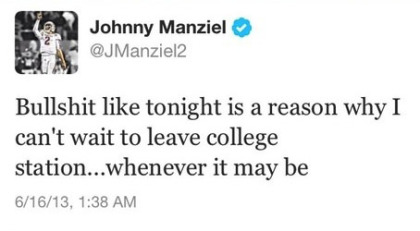 Johnny Manziel Tweet