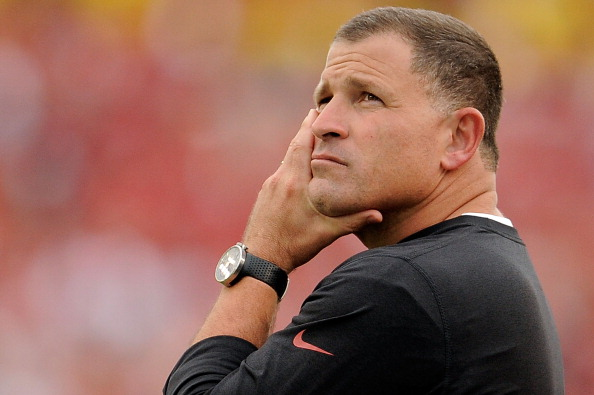 TAMPA, FL - DECEMBER 15:  Greg Schiano, head coach of the Tampa Bay Buccaneers, watches the action during a game against the San Francisco 49ers at Raymond James Stadium on December 15, 2013 in Tampa, Florida. San Francisco won the game 33-14.  (Photo by Stacy Revere/Getty Images)