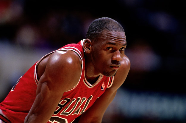 UNDATED:  Michael Jordan #23 of the Chicago Bulls looks on durng a NBA game.  Michael Jordan played for the Chicago Bull from 1981 through 1998.