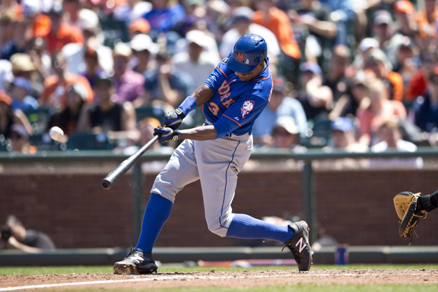 SAN FRANCISCO, CA - JUNE 08:  Curtis Granderson #3 of the New York Mets hits a home run off of Tim Lincecum (not pictured) of the San Francisco Giants during the sixth inning at AT&T Park on June 8, 2014 in San Francisco, California.  (Photo by Jason O. Watson/Getty Images)