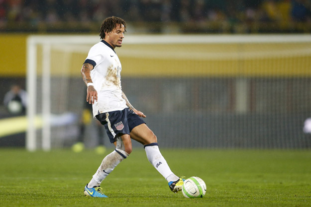 VIENNA, AUSTRIA - NOVEMBER 19: Jermaine Jones of USA controls the ball during the International friendly match between Austria and USA at the Ernst-Happel Stadium on November 19, 2013 in Vienna, Austria.