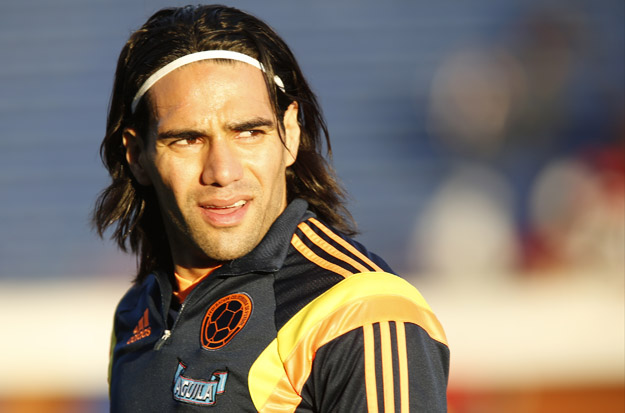 BUENOS AIRES, ARGENTINA - MAY 31: Radamel Falcao of Colombia looks on before the International Friendly Match between Colombia and Senegal at Pedro Bidegain Stadium on May 31, 2014 in Buenos Aires, Argentina.