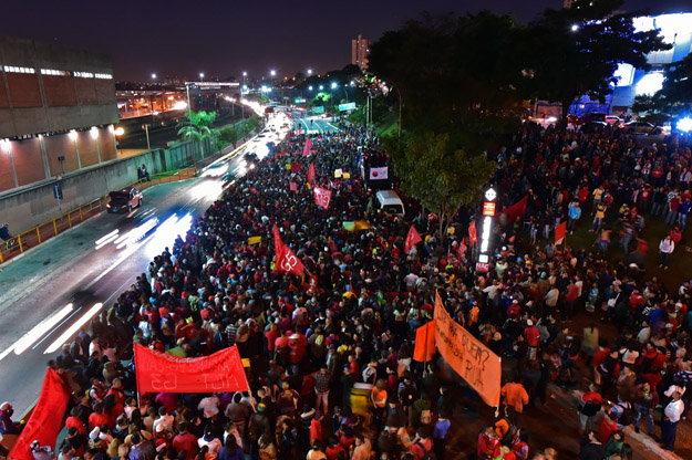 Members of social movements take part in the so-called