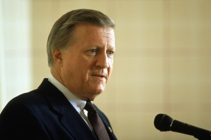 File photo of the late George Steinbrenner. (Photo by: Stephen Dunn/Getty Images)