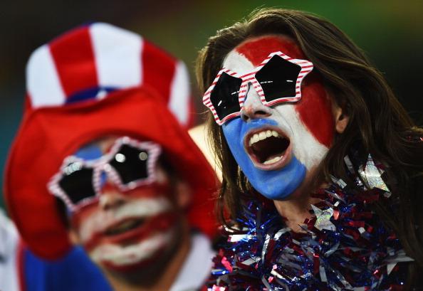 United States fans cheer prior to the 2014 FIFA World Cup Brazil Group G match between Ghana and the United States (credit: Jamie McDonald/Getty Images)