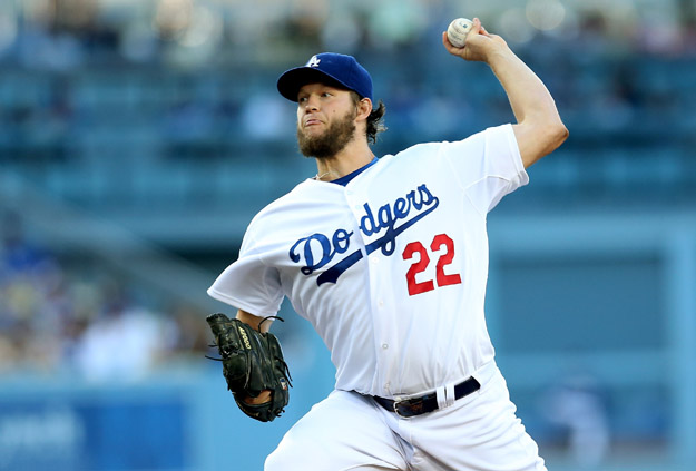 LOS ANGELES, CA - JULY 10:  Clayton Kershaw #22 of the Los Angeles Dodgers throws a pitch against the San Diego Padres at Dodger Stadium on July 10, 2014 in Los Angeles, California.