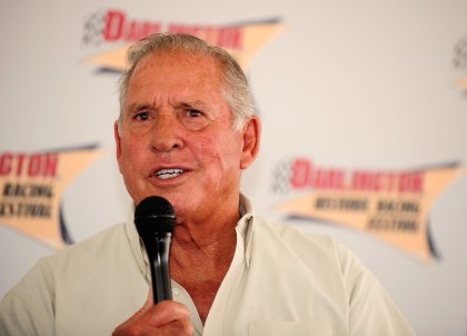 DARLINGTON, SC - AUGUST 31:  Driver David Pearson, the silver fox, does a Q&A with fans during the Darlington Vintage Racing Festival at Darlington Raceway on August 31, 2008 in Darlington, South Carolina.  (Photo by Rusty Jarrett/Getty Images)