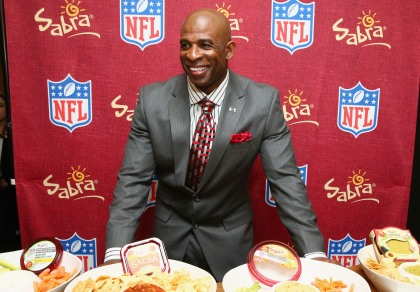 Former NFL player Deion Sanders.  (Photo by Astrid Stawiarz/Getty Images for DirecTV)