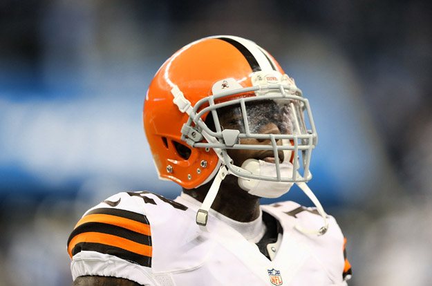 DETROIT, MI - AUGUST 09: Josh Gordon #12 of the Cleveland Browns warms up prior to the start of the preseason game against the Detroit Lions at Ford Field on August 9, 2014 in Detroit, Michigan. The Lions defeated the Browns 13-12 in a preseason game.