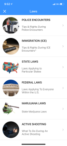 Legal Equalizer App Interface