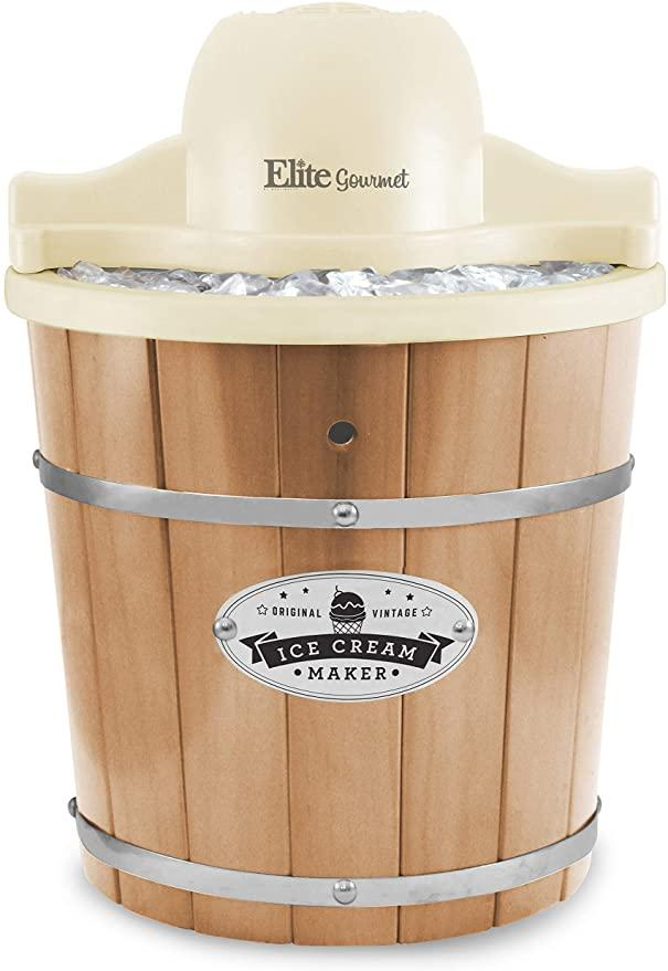 Elite Gourmet old-fashioned electric ice cream maker