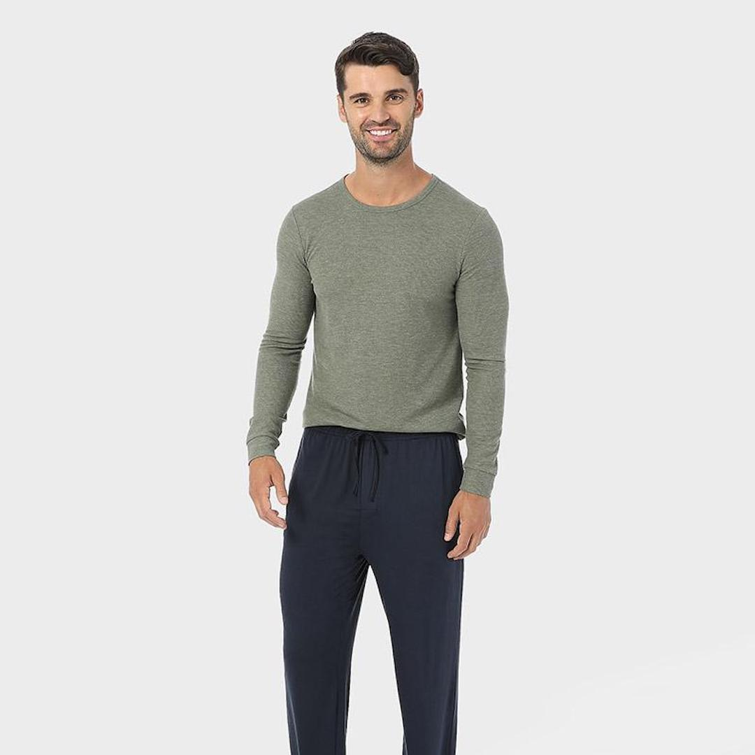 32 Degrees midweight waffle base layer crew top